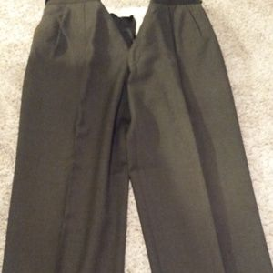 Black pleated Hart Schaffer & Marx dress pants